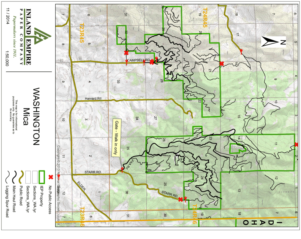 Mica Peak - IEPCO Property Map